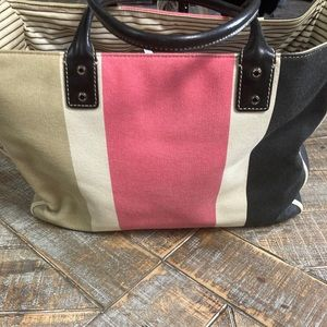 Kate spade striped carryall tote.